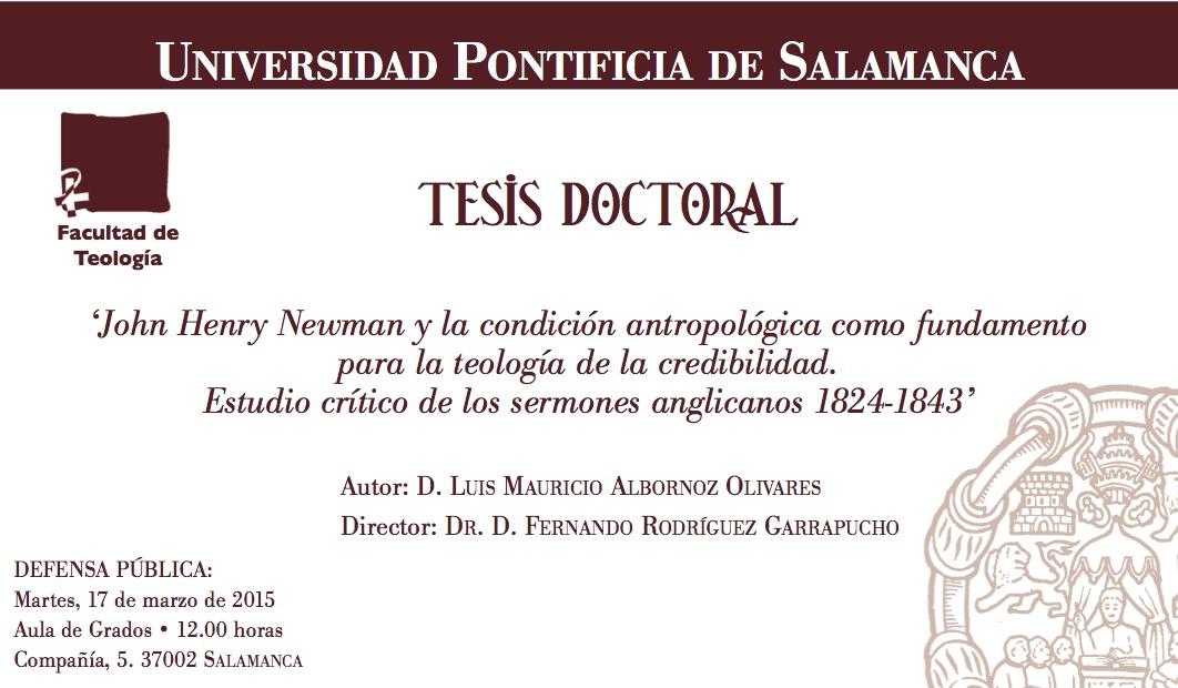 Tesis 17 de marzo de 2015 Teologia