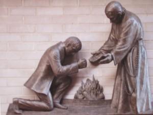 Estatua en Iglesia Católica en Littlemore