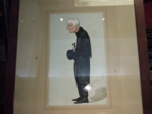 Caricatura de Newman anciano